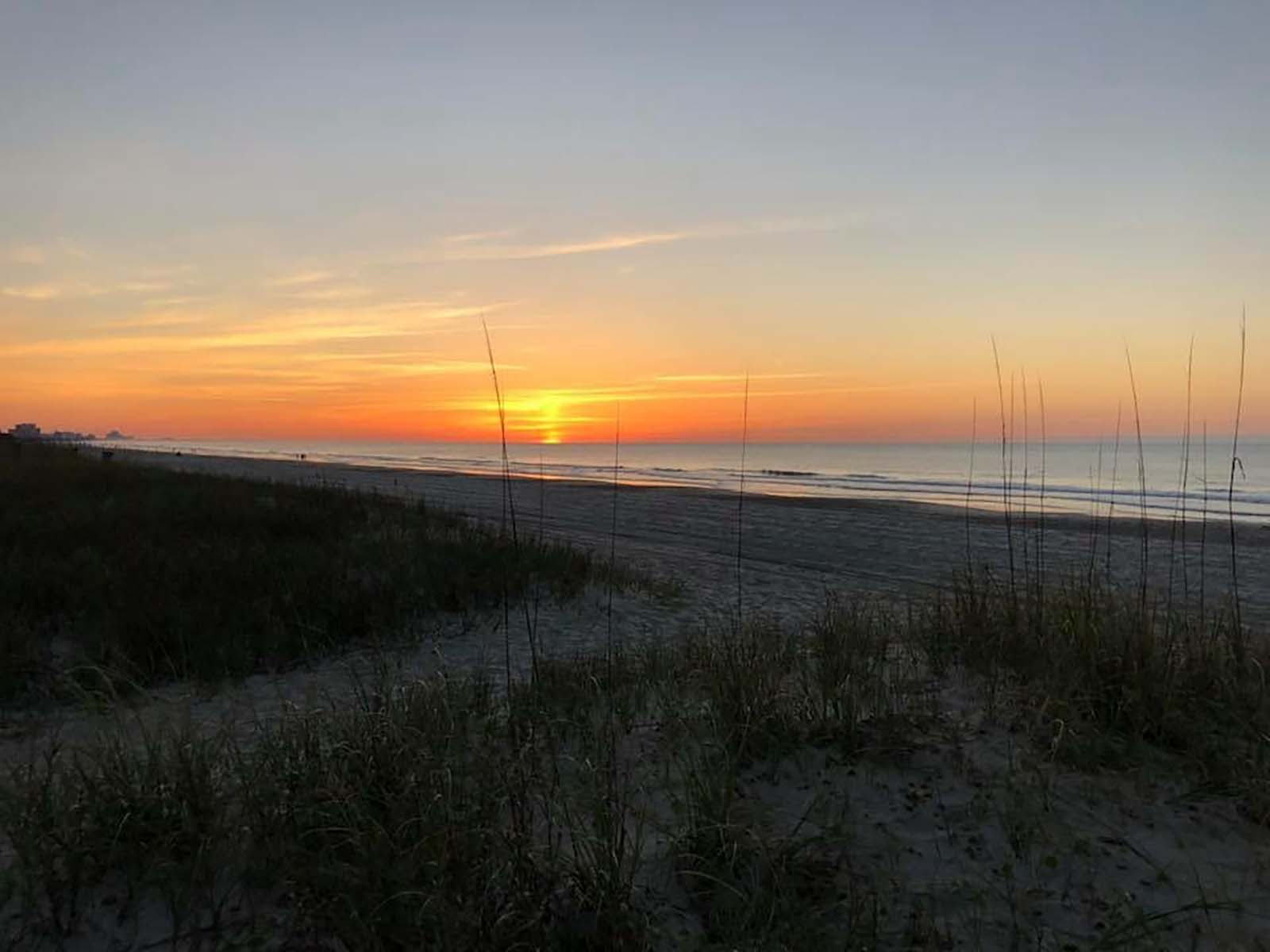 Sunrise from the dunes on the beach