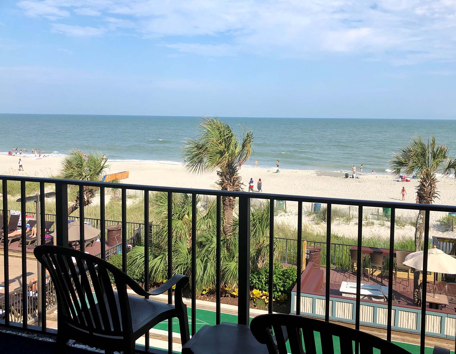 Pretty ocean view from oceanfront room