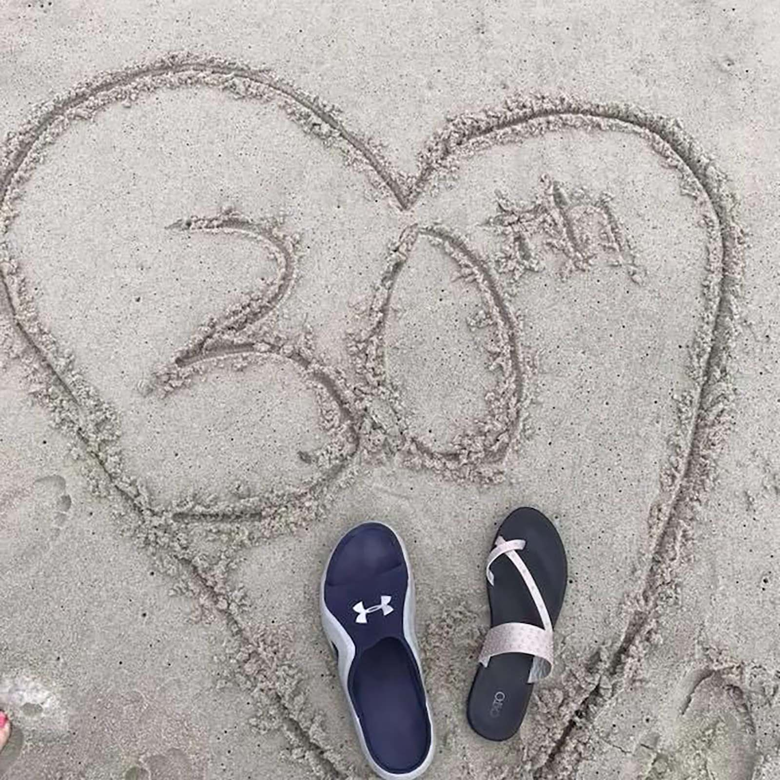 30th written in the sand