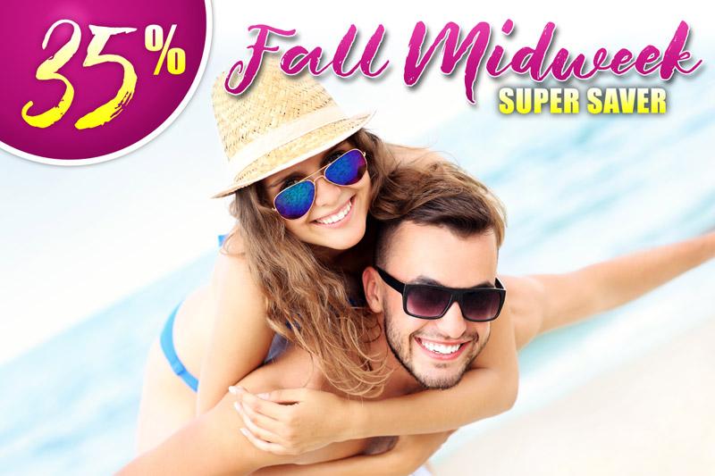 35% Off Fall Midweek Super Saver