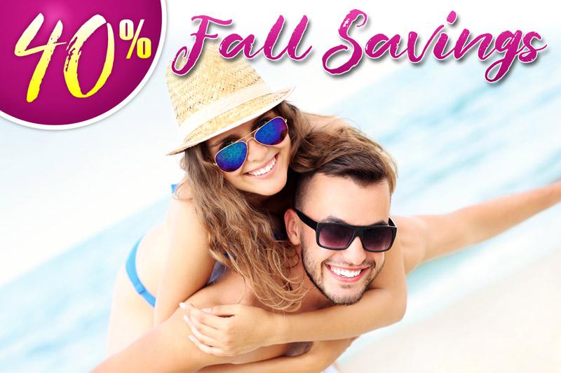 40% Fall Savings