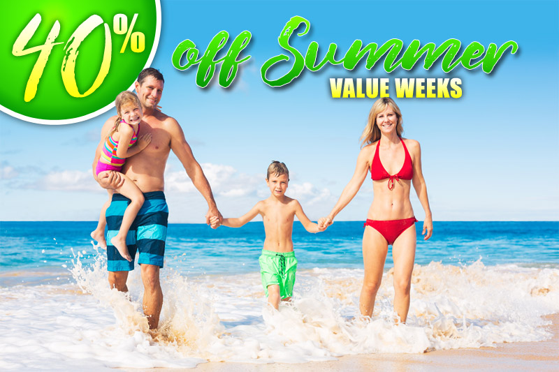 40% Off Summer Value Weeks