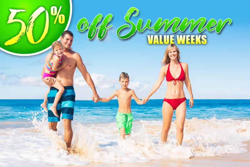 50% Off Sumer Value Weeks