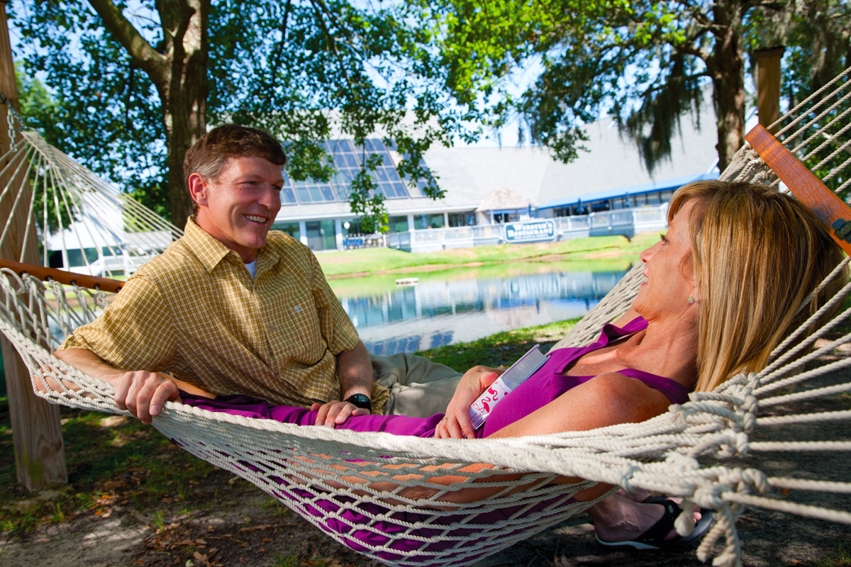 Couple In Hammock Litchfield Beach