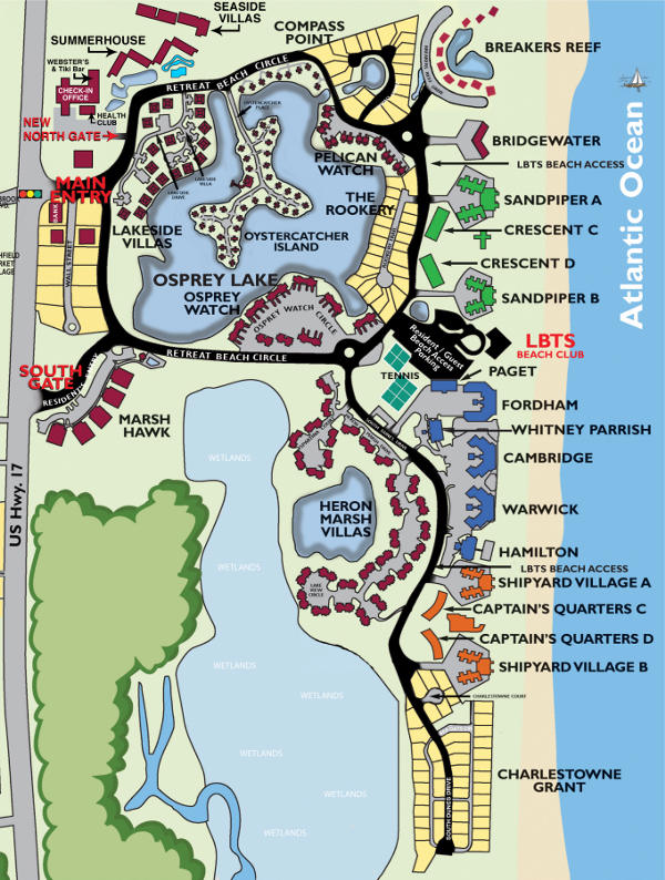 Pawleys Island South Carolina Map.Summerhouse 1 Bedroom Suite Litchfield Vacations