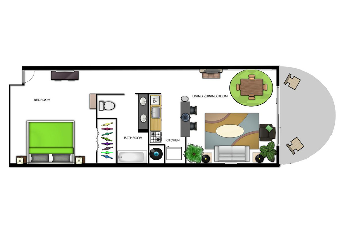 Oceanfront Suite (King) Floorplan