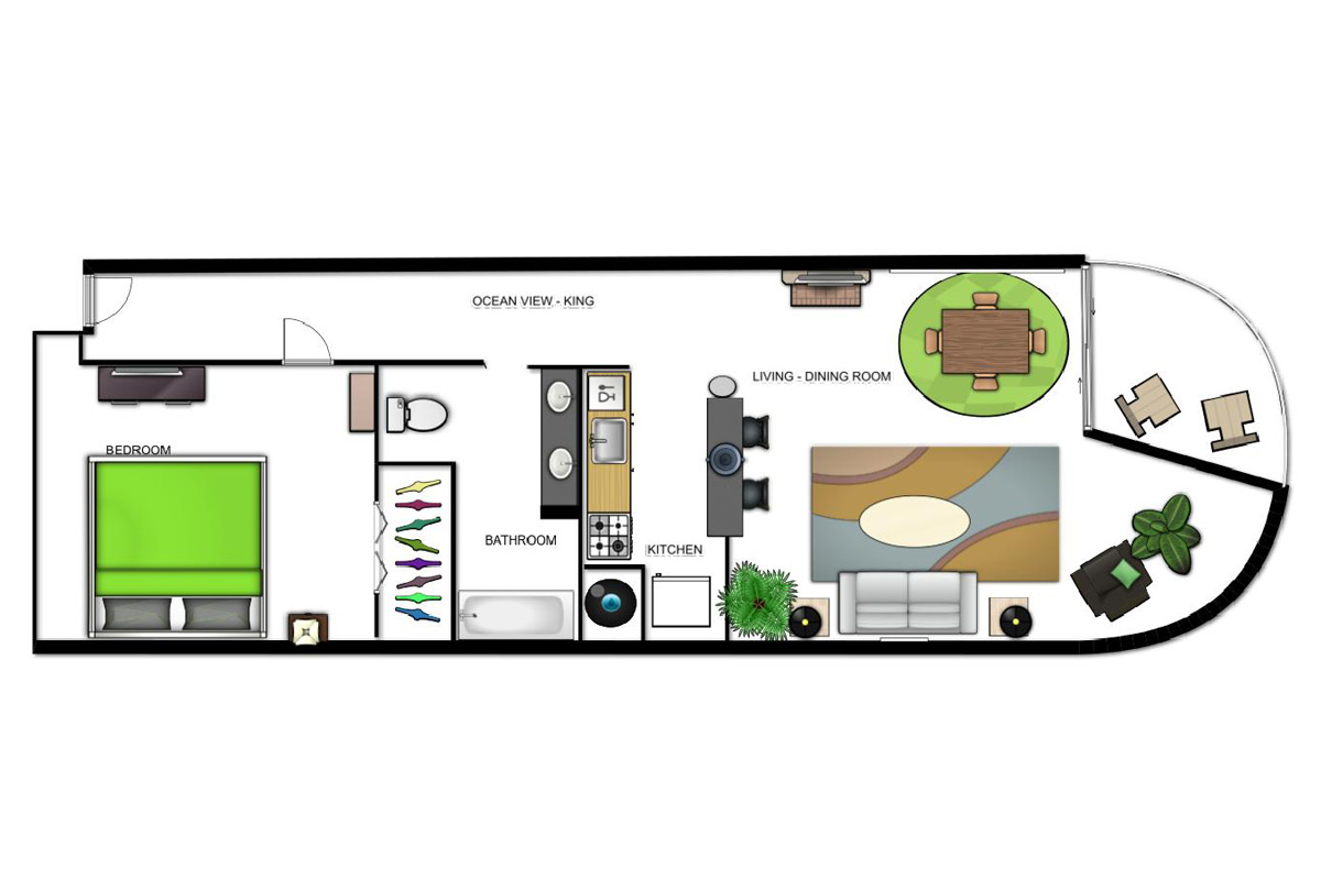 Ocean View Suite (King) Floorplan